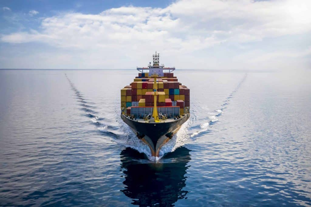Sea freight with cargo